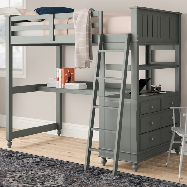Nickelsville Loft Bed with Drawers by Three Posts Teen