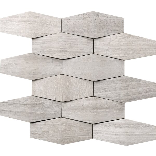 Metro Prism 2 x 4 Marble Mosaic Tile in Cream by Emser Tile