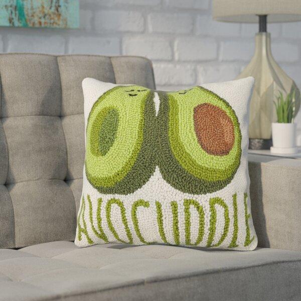 Durfee Avocuddle Wool Throw Pillow by Wrought Studio