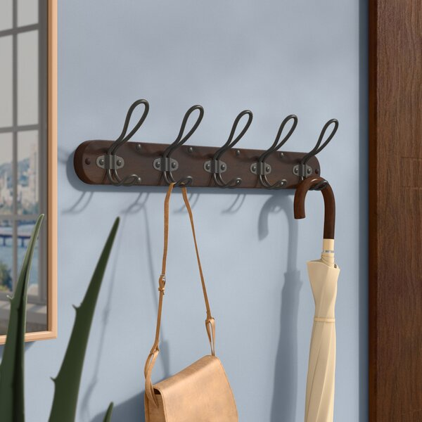 Belmont Wall Mount 5-Hook 20 Garment Rack by Williston Forge