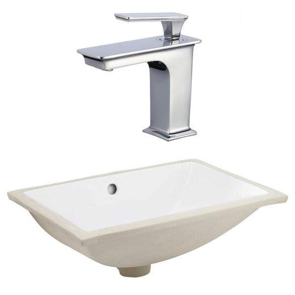 CSA Ceramic Rectangular Undermount Bathroom Sink with Faucet and Overflow by Royal Purple Bath Kitchen