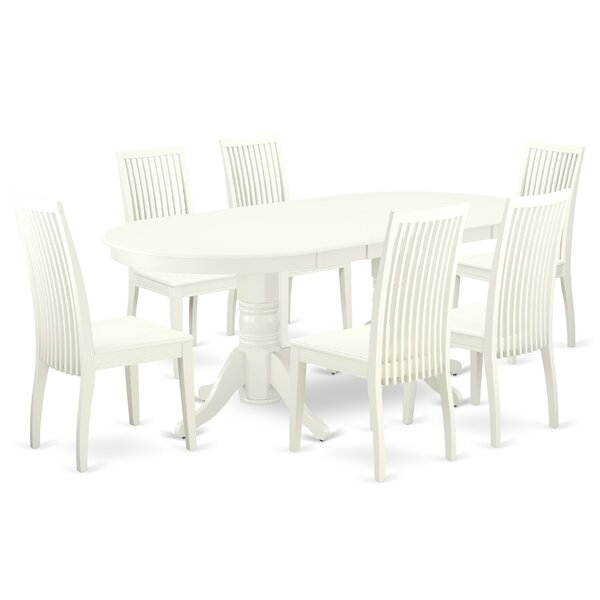 Fontvieille 7 Piece Extendable Solid Wood Dining Set By Winston Porter