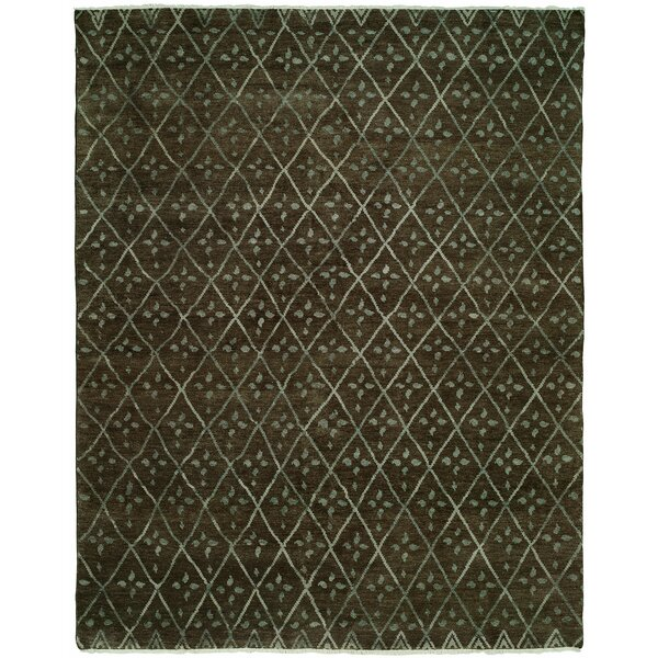 Venita Hand-Knotted Wool Brown Area Rug by Ivy Bronx