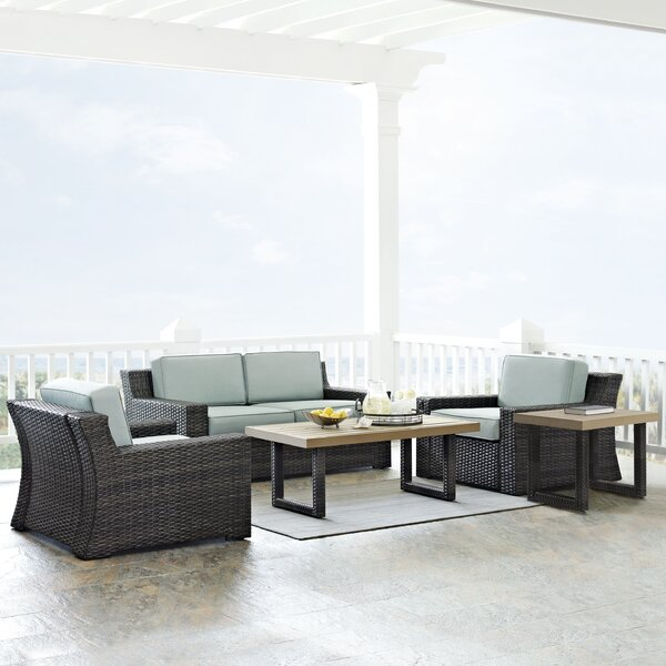 Linwood 5 Piece Sofa Seating Group with Cushions by Beachcrest Home
