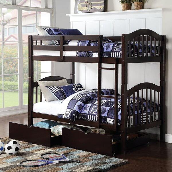 Dwaine Twin over Twin Bunk Bed with Storage by Harriet Bee