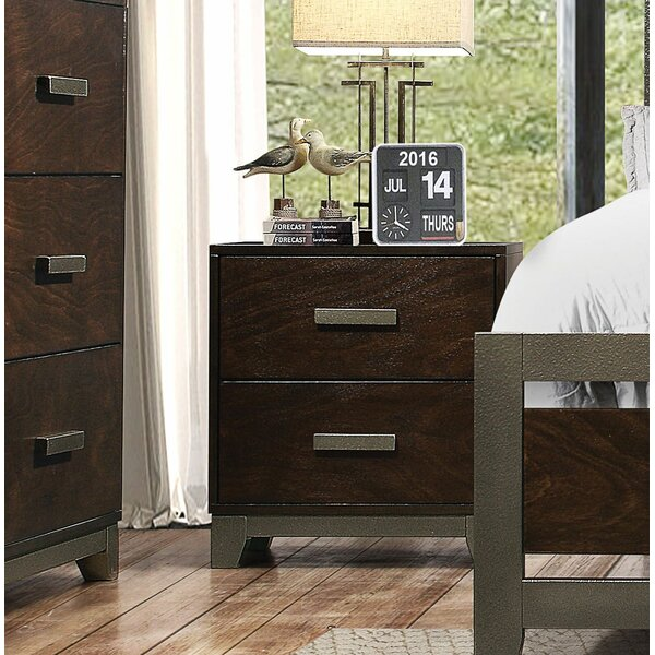 Claremore 2 Drawer Nightstand by Ivy Bronx