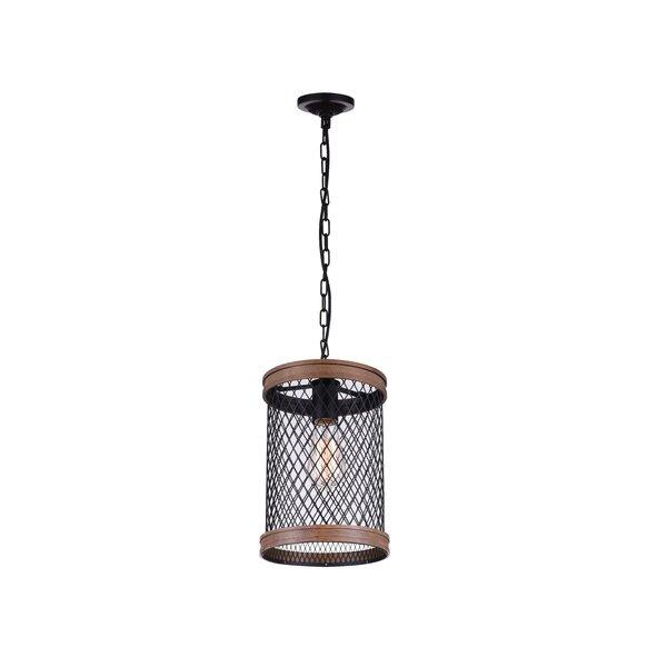 Torres 1-Light Cylinder Pendant by CWI Lighting