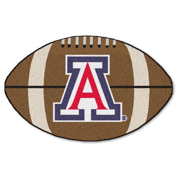 NCAA University of Arizona Football 32.5 in. x 20.5 in. Non-Slip Indoor Only Door Mat