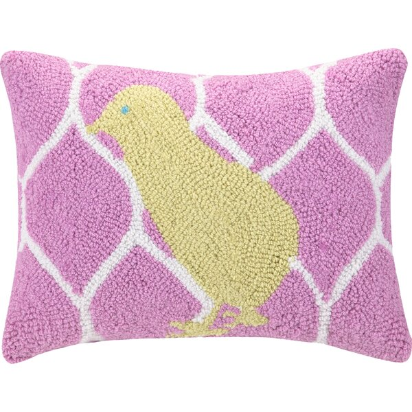 Chick Polyester Throw Pillow by Peking Handicraft