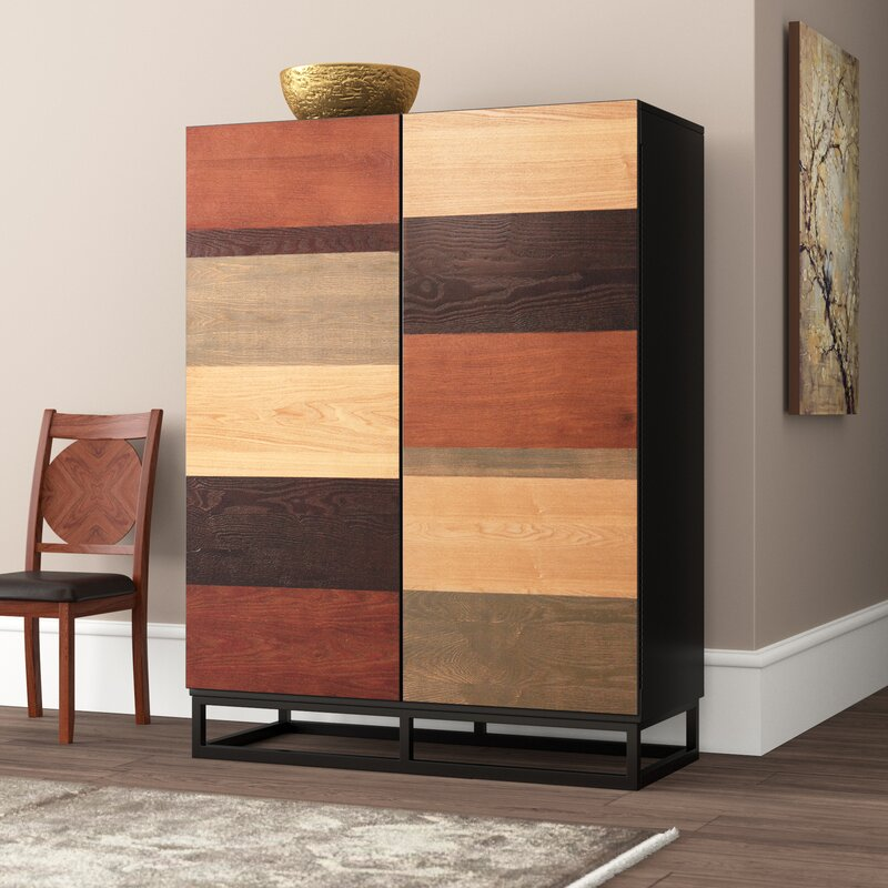 50 Staircases That Expertly Mix Function And Style: World Menagerie Tamara Bar Cabinet & Reviews
