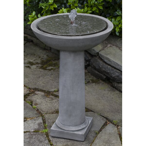 Cirrus Concrete Birdbath Fountain by Campania International