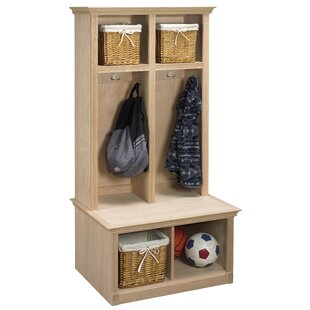 2 Piece Sit and Store Hall Tree Set by Arthur W. Brown