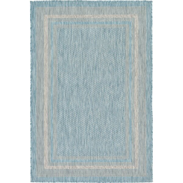 Hamedi Aquamarine Outdoor Area Rug by August Grove