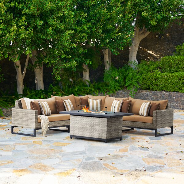 Parks 6 Piece Sectional Seating Group with Cushions by Latitude Run
