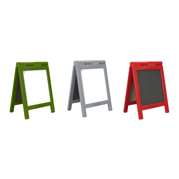 Essentials Mini Message Free-Standing Whiteboard and Chalkboard, 8.5 x 6 (Set of 3) by Guidecraft