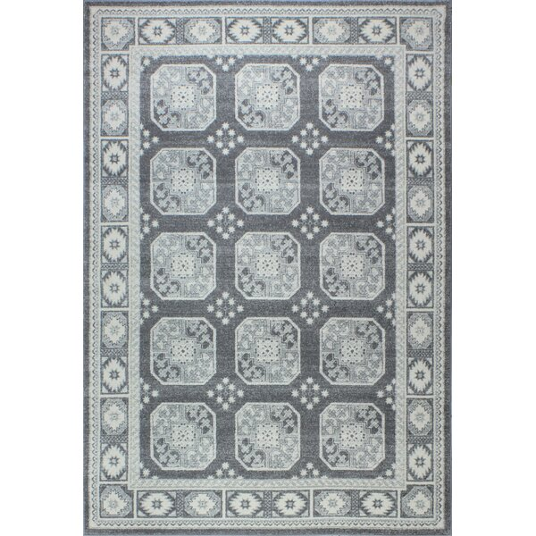 Fiora Gray Area Rug by Bungalow Rose