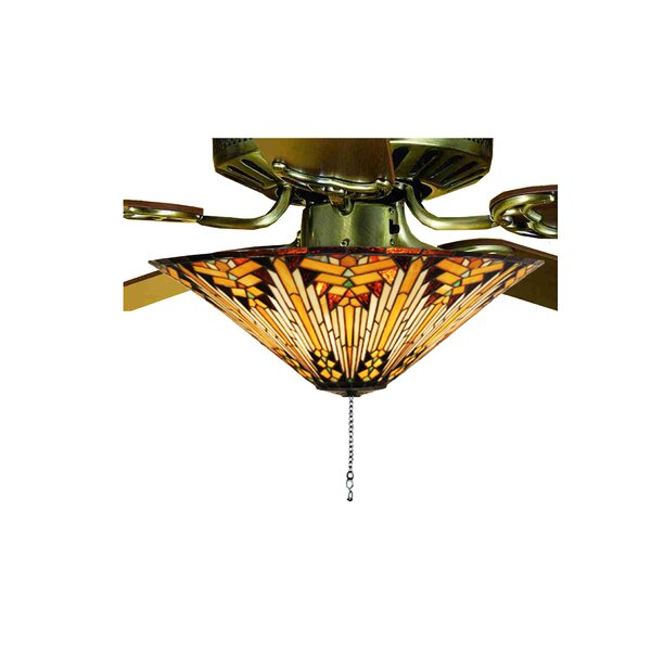 Copperfoil 3-Light Bowl Ceiling Light Fan Kit Only by Meyda Tiffany