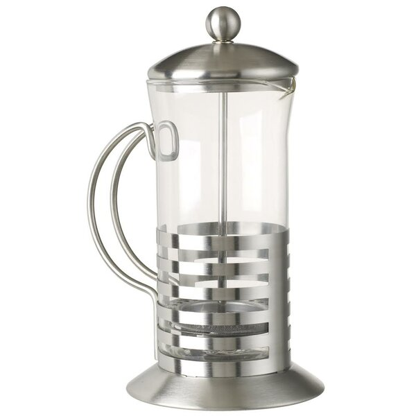 5th Avenue Stainless with Glass French Press Coffee Maker by 5th Ave Store