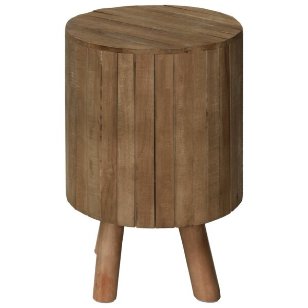 Scruggs Wooden Round Drum End Table by Union Rustic