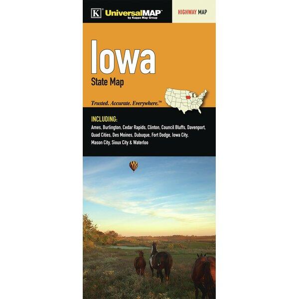 Iowa Fold Map by Universal Map