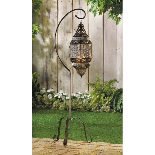 Nikita Iron Lantern by Bungalow Rose