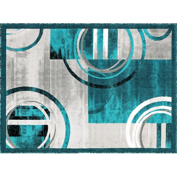 Chorleywood Turquoise/Gray Area Rug by Orren Ellis