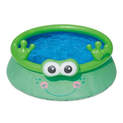 Summer Waves 6Ft X 20In Inflatable Frog Character Quick Set Swimming Pool, Green Polygroup Trading Ltd -  P10006207