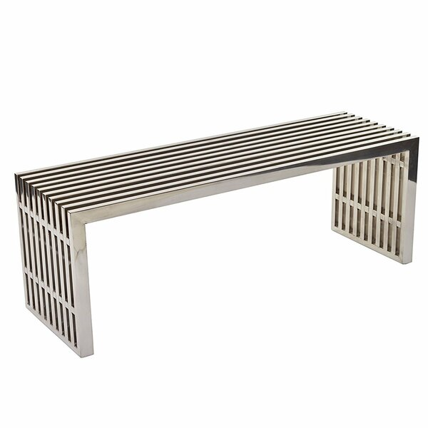 Hadnot Metal Bench by Ivy Bronx