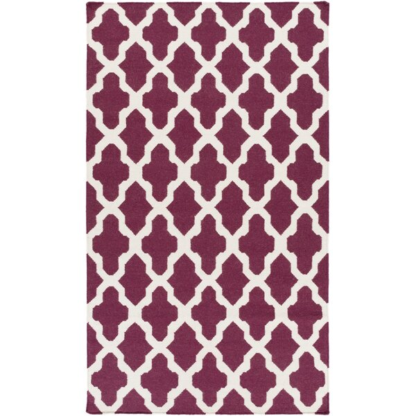 Bangor Purple Geometric Area Rug by Ebern Designs