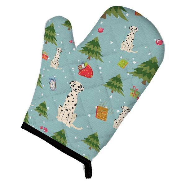 Christmas Dalmatian Oven Mitt by Caroline's Treasures