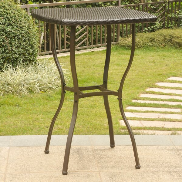 Polly Resin Wicker Bistro Table by Three Posts