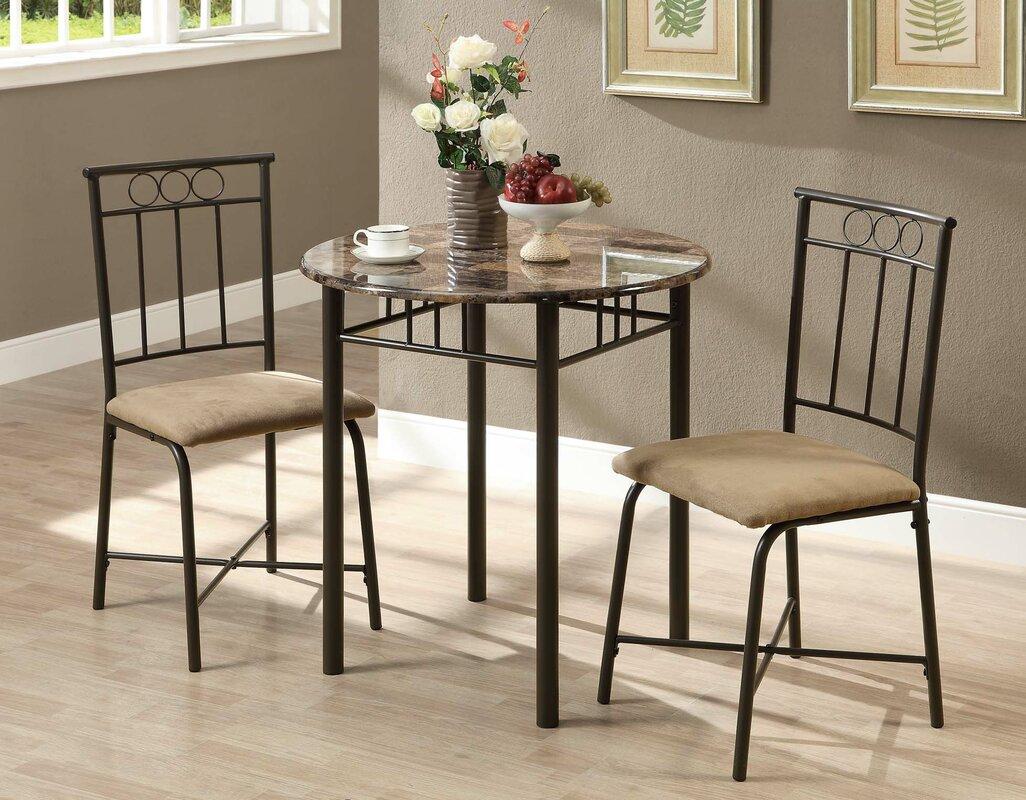 monarch specialties inc  piece dining set ii  reviews  wayfair -   piece kitchen  dining room sets sku mnq defaultname