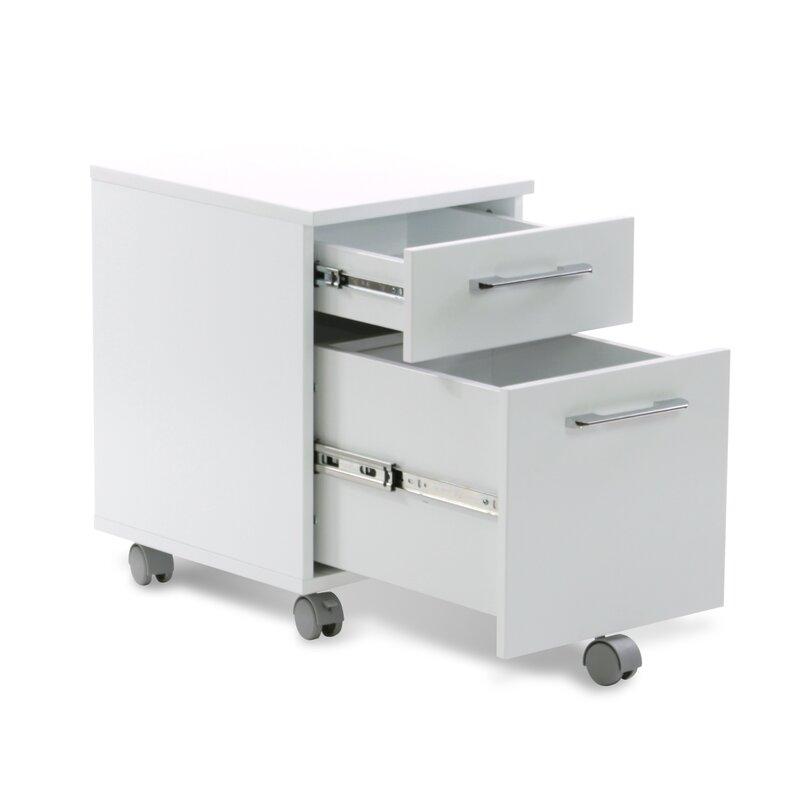 Ordinaire Tribeca 2 Drawer Mobile Pedestal Filing Cabinet