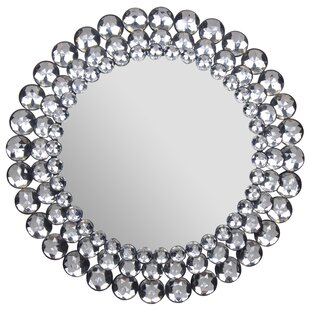 House of Hampton Wykoff Round Jeweled Accent Mirror