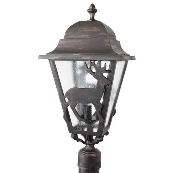 Penfield Deer Series 3 Light 25 Post Lantern by Alcott Hill