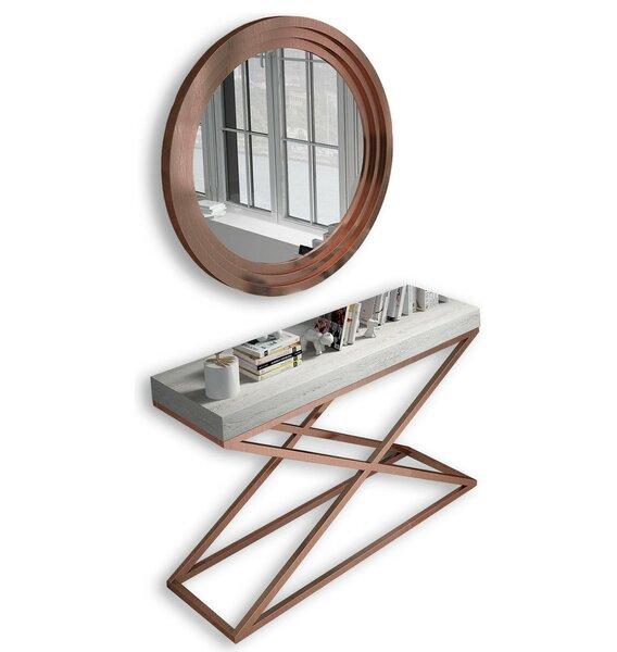 Laivai Console Table and Mirror Set by Everly Quinn Everly Quinn
