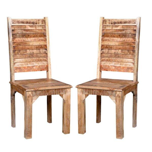 Kamp Rustic Solid Wood Dining Chair (Set Of 2) By Bloomsbury Market Bloomsbury Market