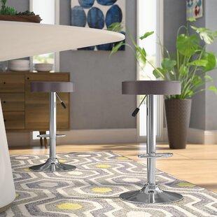 Vandusen Adjustable Height Swivel Bar Stool (Set of 2) by Latitude Run Kitchen & Dining Furniture