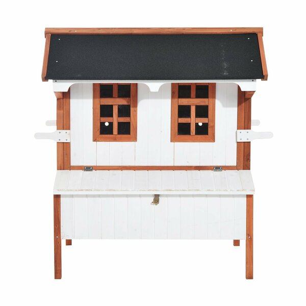 Gennessee Wooden Cottage Raised Portable Backyard Chicken Coop with Nesting Box by Tucker Murphy Pet