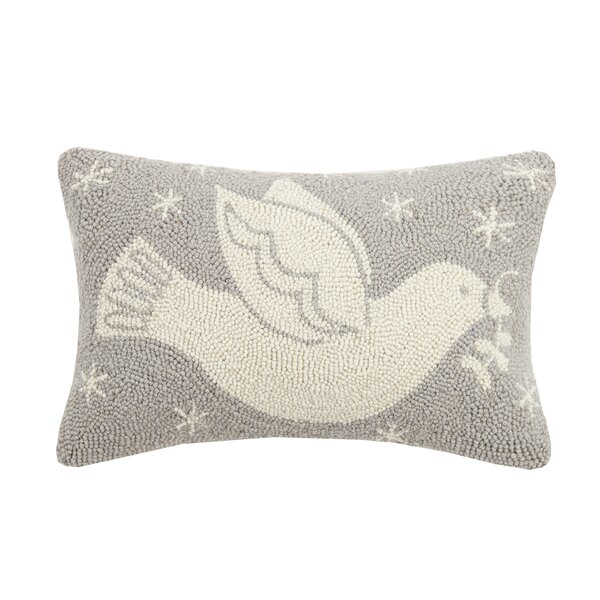 Mazur Dove Hook Wool Lumbar Pillow by The Holiday Aisle