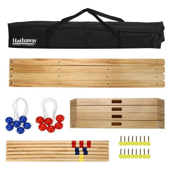 Solid Wood Ladder Toss Game Set by Hathaway Games
