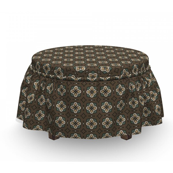 Stars And Squares Ottoman Slipcover (Set Of 2) By East Urban Home