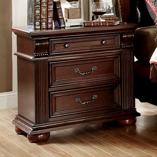 Wanda 3 Drawer Nightstand by Astoria Grand