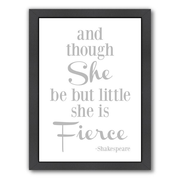 She Is Fierce V2 Framed Art by Viv + Rae