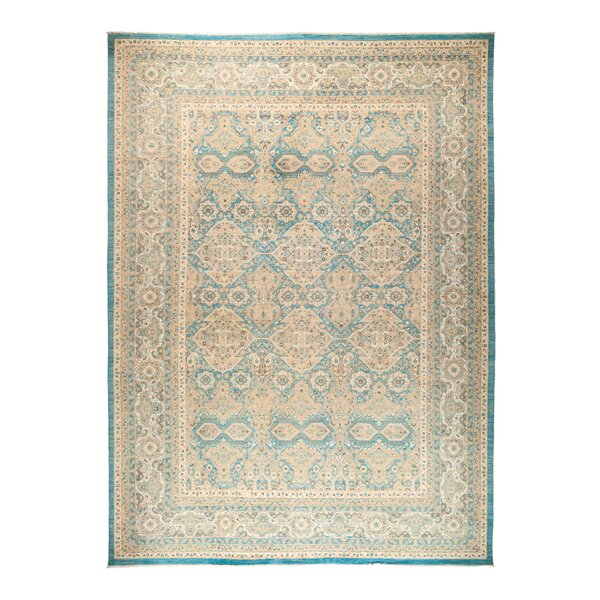 One-of-a-Kind Fine Ghazni Hand-Knotted Beige Area Rug by Darya Rugs