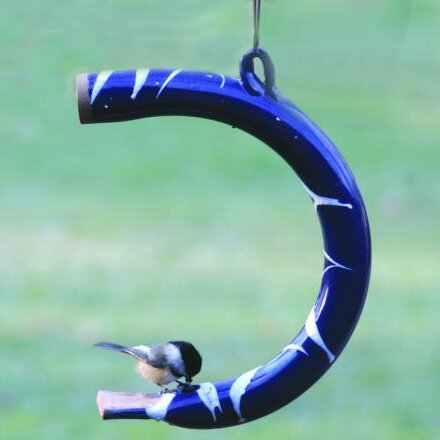Hand Crafted Curved Pottery Decorative Bird Feeder by Birds Choice