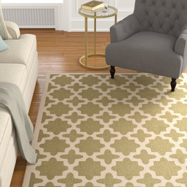 Fredricks Green/Beige Indoor/Outdoor Area Rug by Alcott Hill