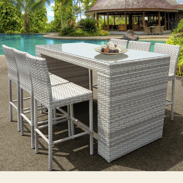 Ansonia 7 Piece Bar Height Dining Set by Rosecliff