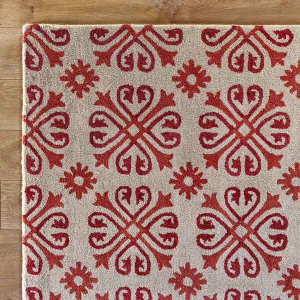 Amelia Natural & Red Rug by Birch Lane™