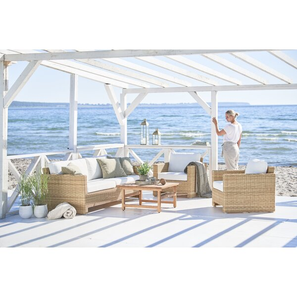 Sixty 3 Piece Sunbrella Sofa Seating Group with Cushions by Sika Design